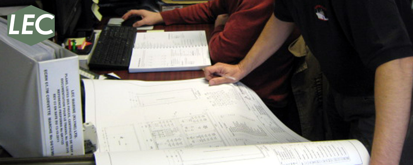 Design engineers carrying out plan approval of electrical Auto Cad (Electrical version 2013) drawings against customer specification.