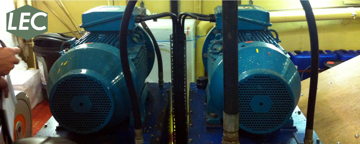 Rescue davit hydraulic power packs fitted onboard customers North Sea supply & stand/by vessel.
